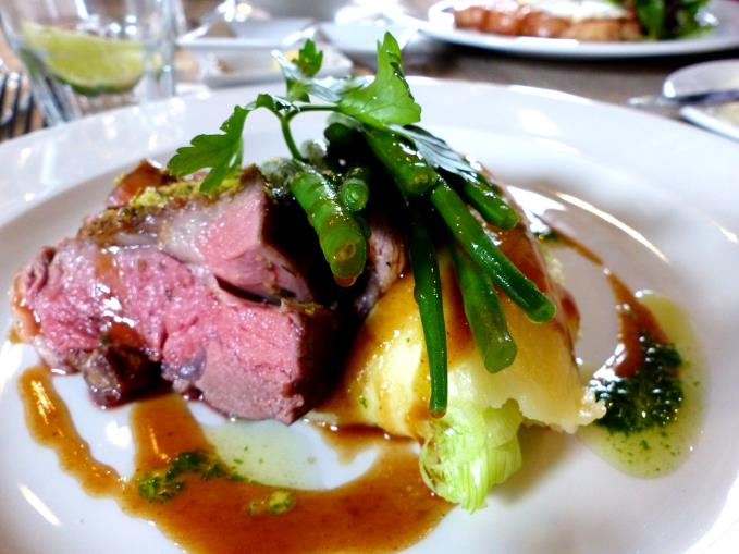RUMP OF LUNE VALLEY LAMB - £18.95 Stunning lamb from north Lancashire - Mojito crumb - gravy & roast potato champ