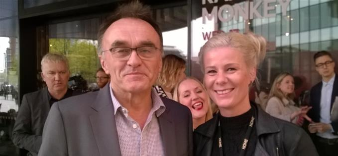 Danny Boyle at the opening night with Elisa Ruff and the head of Sarah Perks