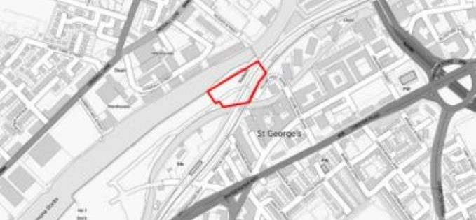 New flats will go in red outlined area