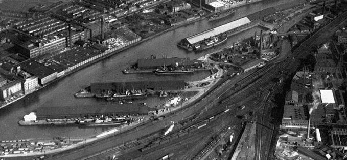 Pomona Docks in the middle of the twentieth century