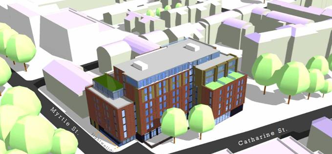 The proposed development of student flats