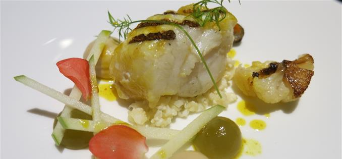 Curried monkfish