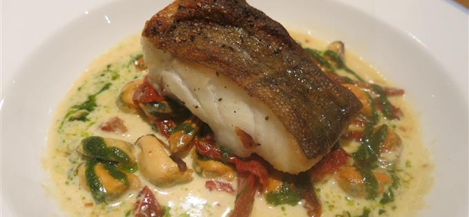 Cod and mussels, Gamba