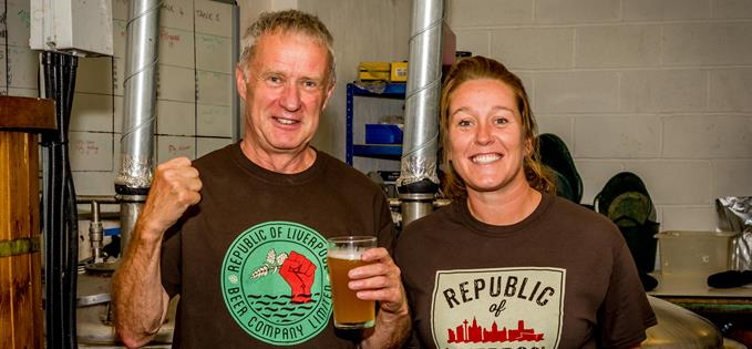 ae94cae3b411 Father and daughter team Tony and Liz Rothwell from Republic of Liverpool  Beer Company.