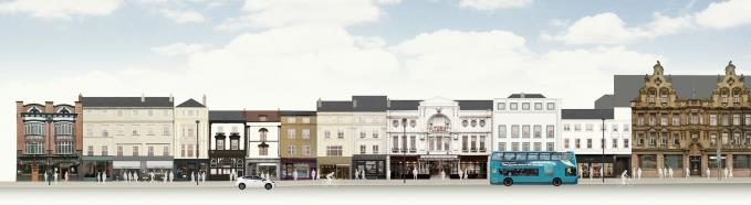 The mixed use vision from SAVE retains the buildings and the Futurist facade