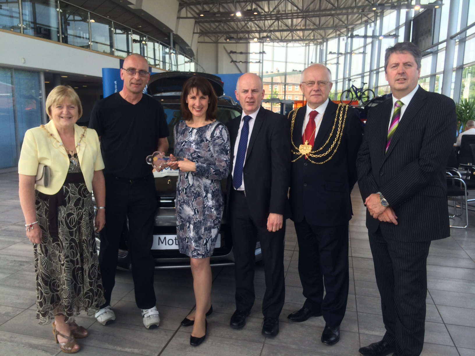 Not without merit: Reeves presents constituent with keys to Motability car