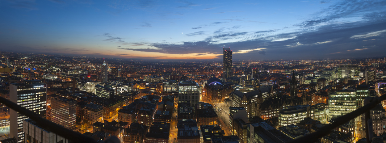 Manchester from City Tower