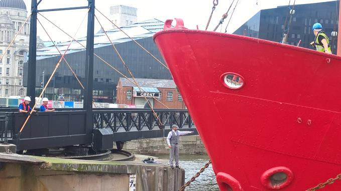 Planet owner Alan Roberts implores bailiffs to stop as the ship is hauled away