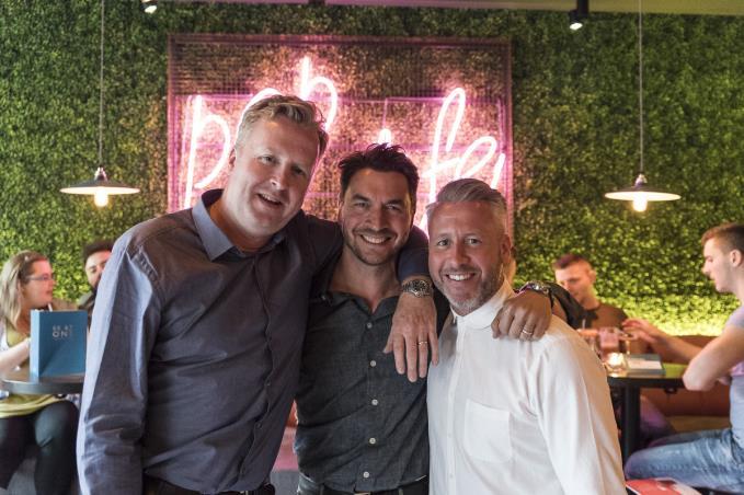Founders Steve Locke, Rhys Oldfield and Leigh Miller
