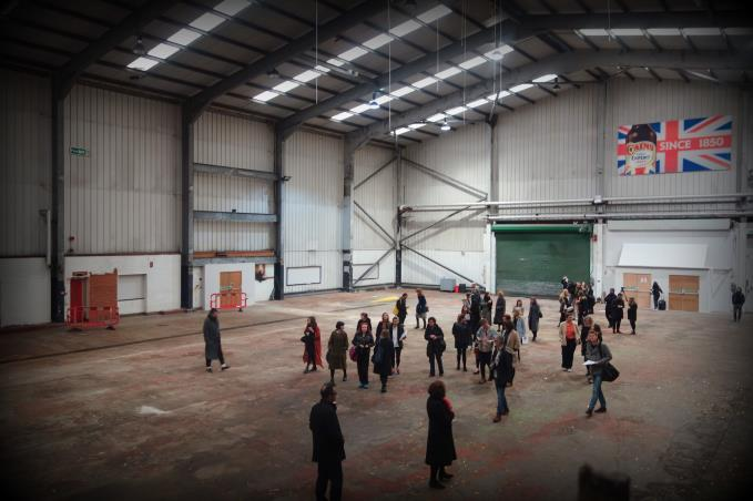 The cavernous Cains former canning plant which will house the Biennial show