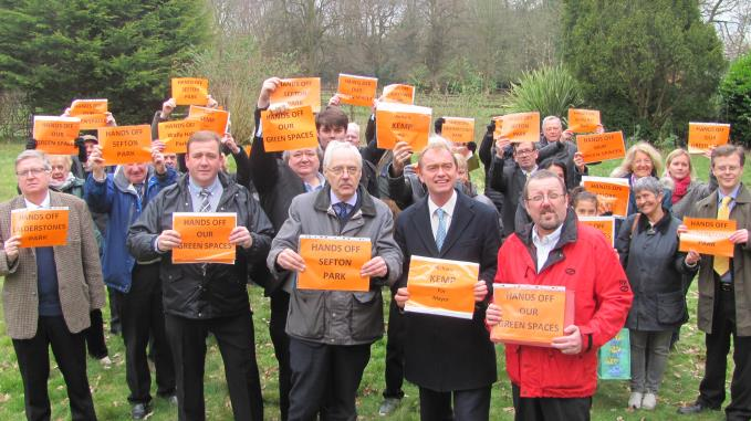 Tim Farron and his chums  up at Calderstones