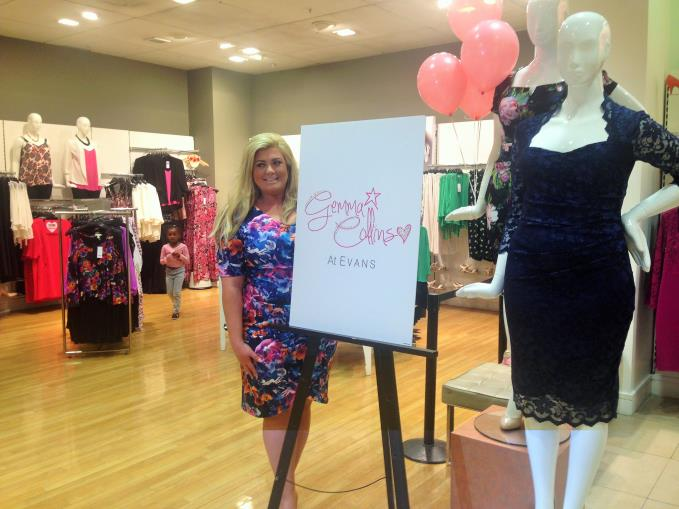 Gemma Collins launches her range at Evans Manchester