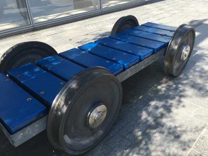 Railway bogies as street furniture