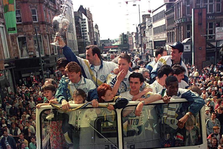 Leeds United celebrate 1992 Championship victory