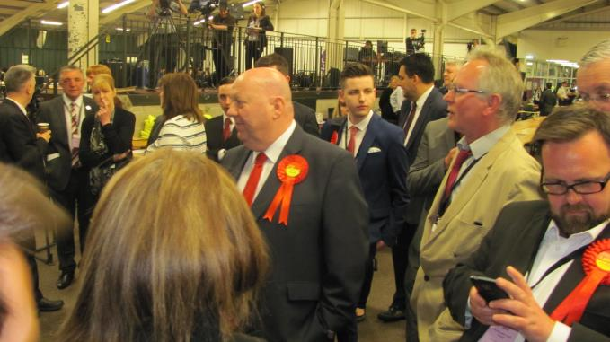 Joe Anderson at the count late last night