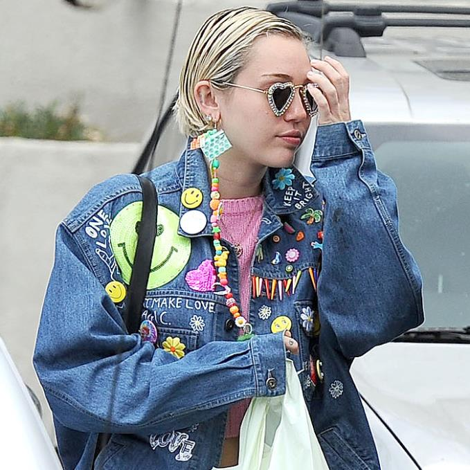 Miley wearing