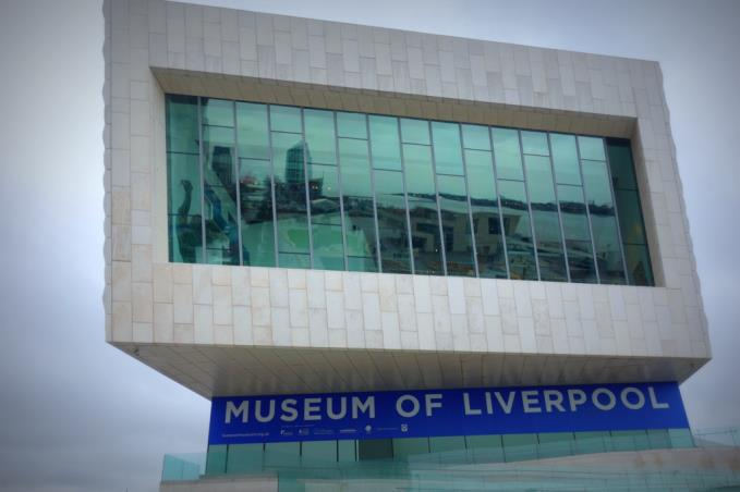 The window was part of the architects  brief and has an incredible vantage point over the Pier Head and beyond