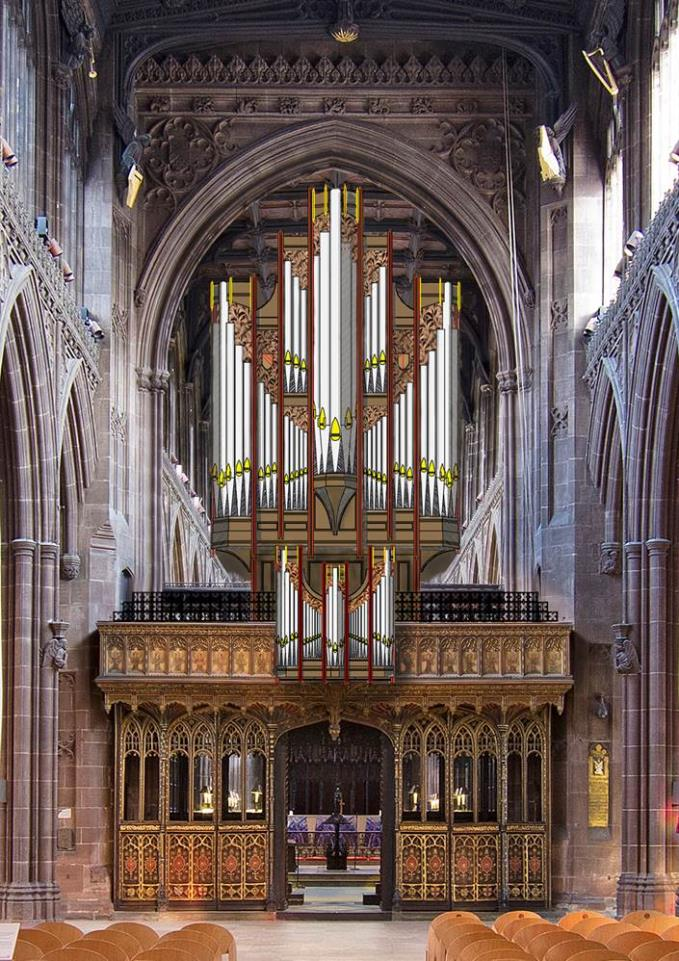 How the completed organ will look