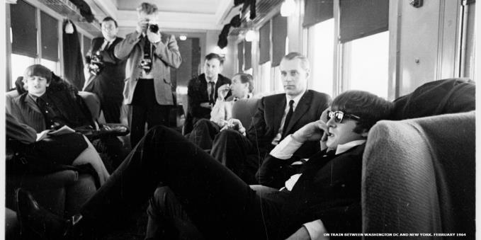 On a train between Washington DC and New York, 1963
