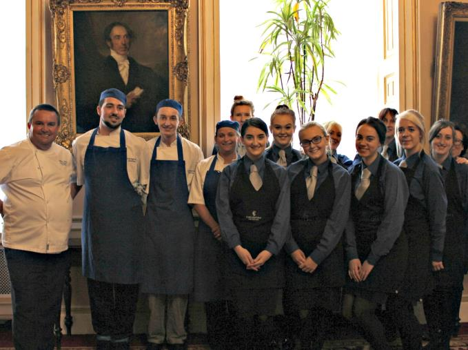 The Carrington Catering team who made the Queen lunch