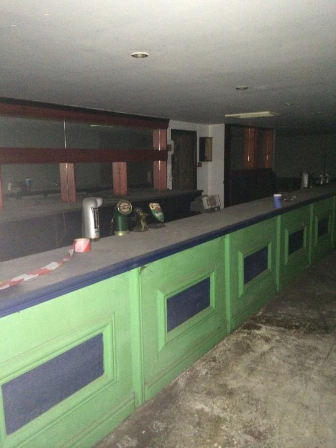 Tom Halls Tavern, the scene inside when builders went in after 30 years