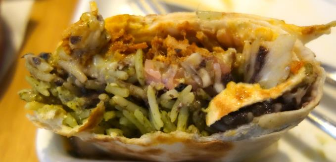 burrito, bulked out with rice, could have been devised by their accountant.