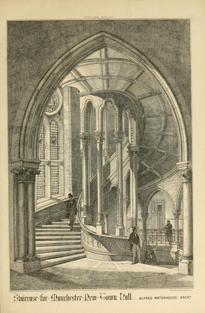 Waterhouses drawing of a one of the stairs
