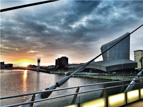 Imperial War Museum at dawn
