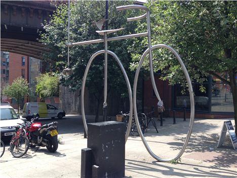 Big daft bike sculpture