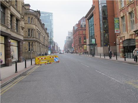 Empty Deansgate - where are the through drivers?