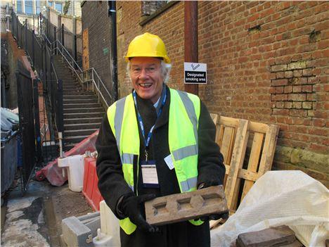 Roger Stephenson with his fine brick