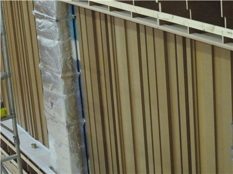 Detail Of Recital Room Walls - These Will Be Covered On Completion