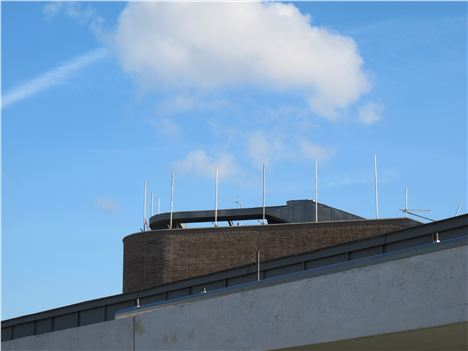 Top Of The New School With Slight Building Error In The Top Rail - This Will Be Corrected