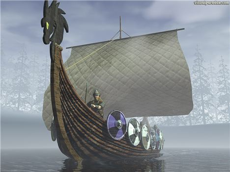 Viking Ship Like The One Found In The Vault