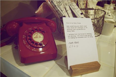 Mary's Moan Phone at House of Fraser Manchester