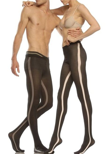 The classic mantyhose look