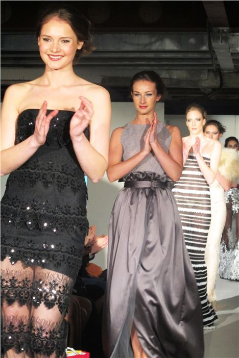 Models close Nadine Merabi's show at Manchester Fashion Week