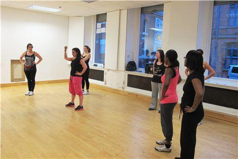 Laura Carden teaching Bokwa at Sunshine Studios, Manchester