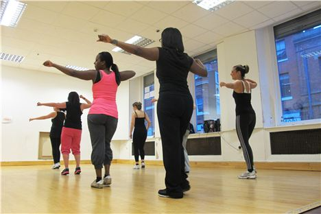 Laura Carden teaching Bokwa at Sunshines Studios, Manchester