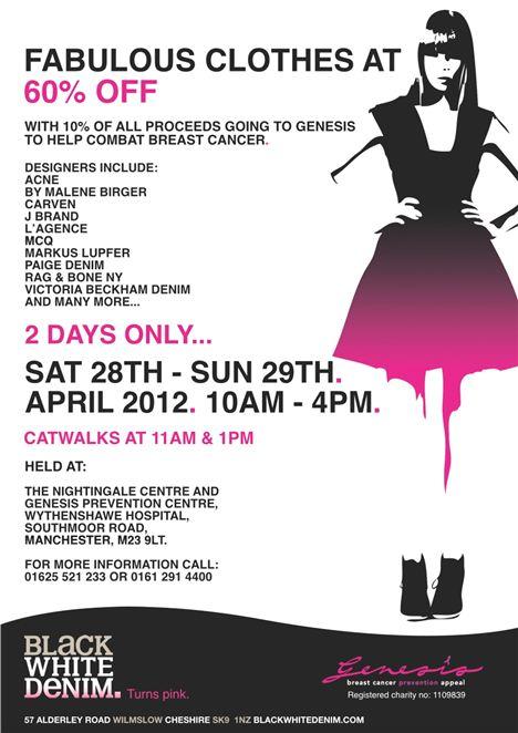 Black White Denim Designer Sale At The Nightingale Centre