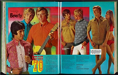 1970s fashion - oh good lord the man has a beige combo shorts suit