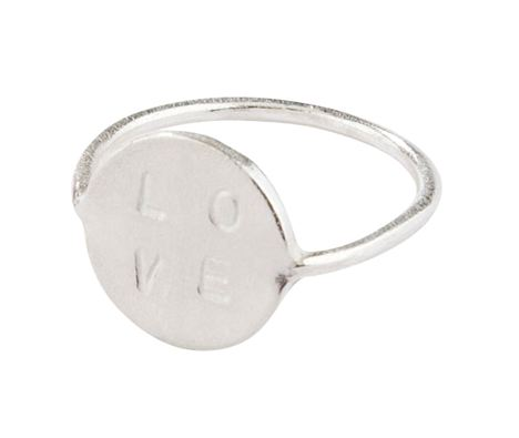 Sterling Silver Love Ring, Daisy Knights, £99 at Black White Denim