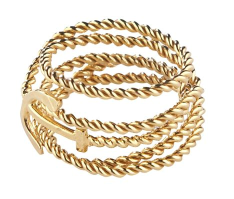 Gold Vermeil Twisted Anchor Wrap Ring, Daisy Knights, £255 at Black White Denim