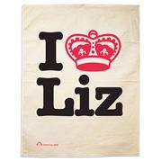 I Love Liz Tea Towel