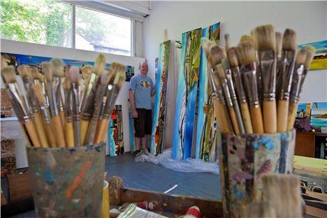 Liam Spencer in the studio