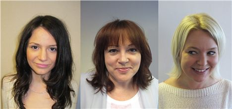 (L-R) Kara, Bernie and Helen with their finished hair, dried and styled at Kara's Blow Dry Bar