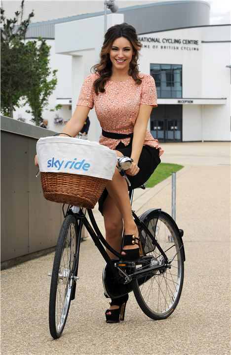 Kelly Brook likes to ride a bike. Honest.