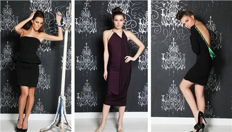 Three dresses by Nadine Merabi that could feature in the Selfridges collection