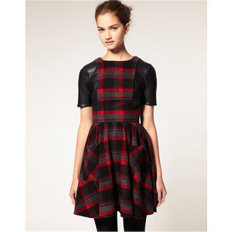 ASOS Leather Trim Dress