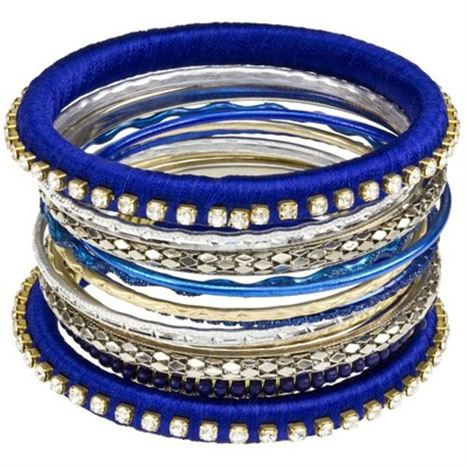 Blue Bangle Stack